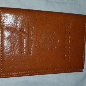 b8,220 Abas Passport Travel Holder Brown Leather